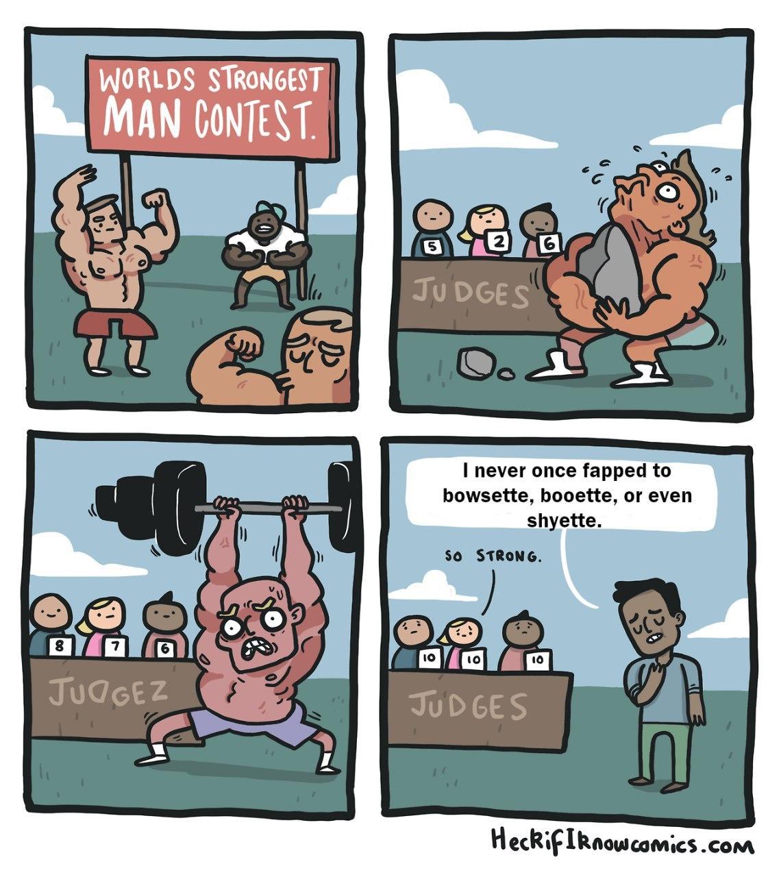 Extremely brave man - meme