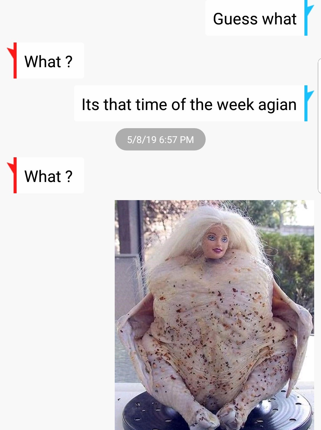 That time of the week - meme