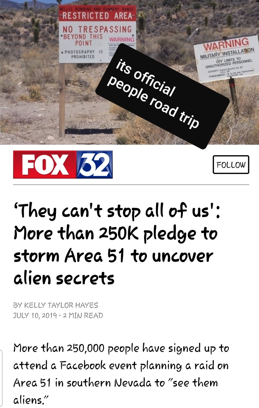 Meet up at area 51 for research purposes  - meme