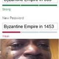 RIP BYZANTINE EMPIRE