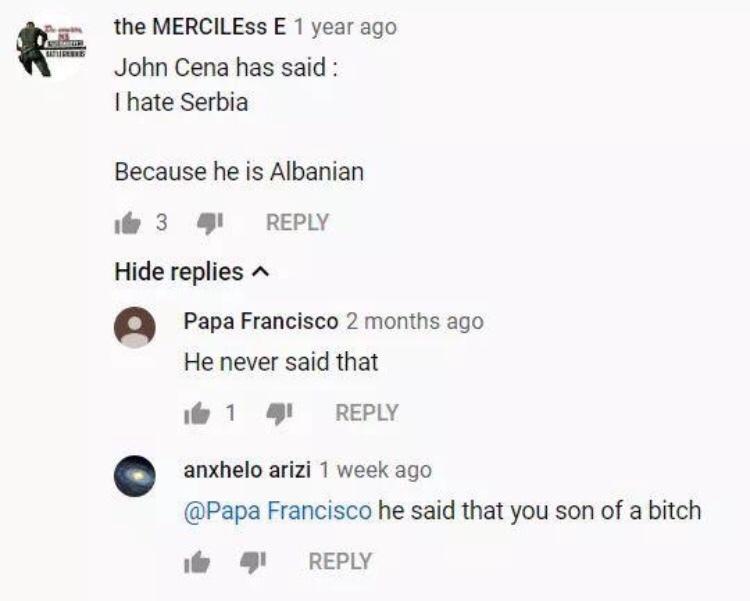 John Cena is Albanian - meme