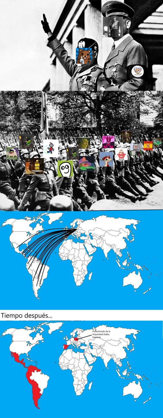 Si somos muchos, no nos detendrán. Un segundo server español, un server latino y otro español. Por la comunidad hispanohablante! - meme