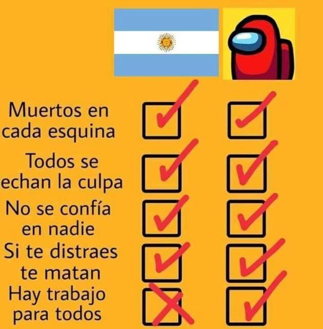 Among Us vs Argentina - meme