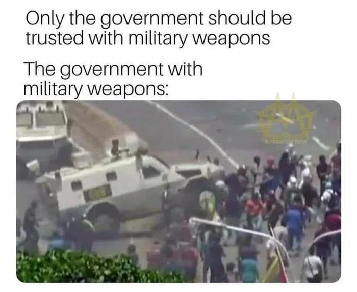 """""""Trust your government"""" - meme"""