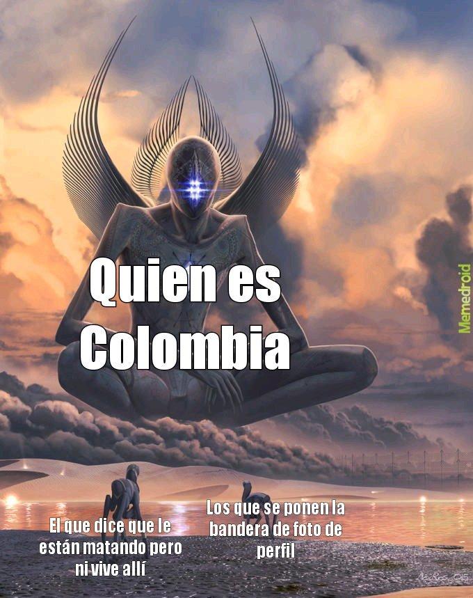 Quien es Colombia - meme