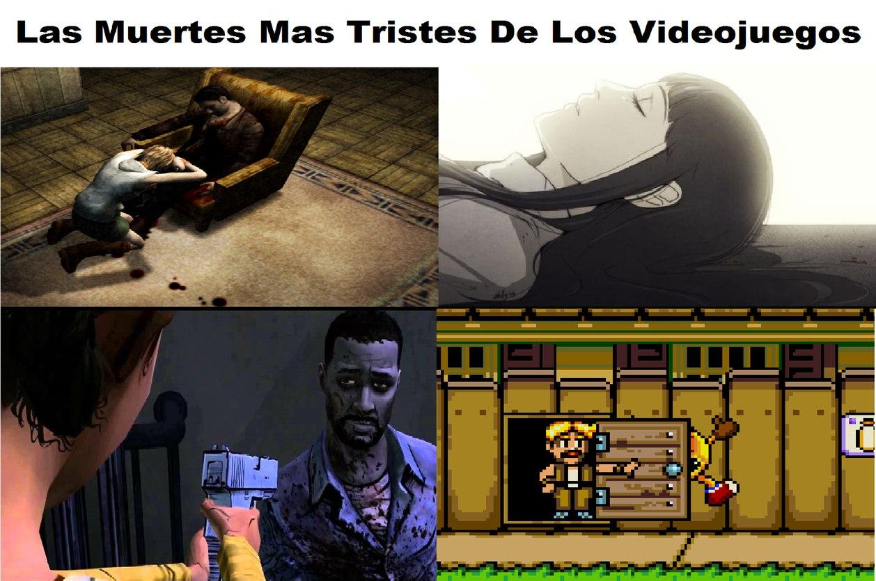 Las muertes mas tristes de los videojuegos - meme