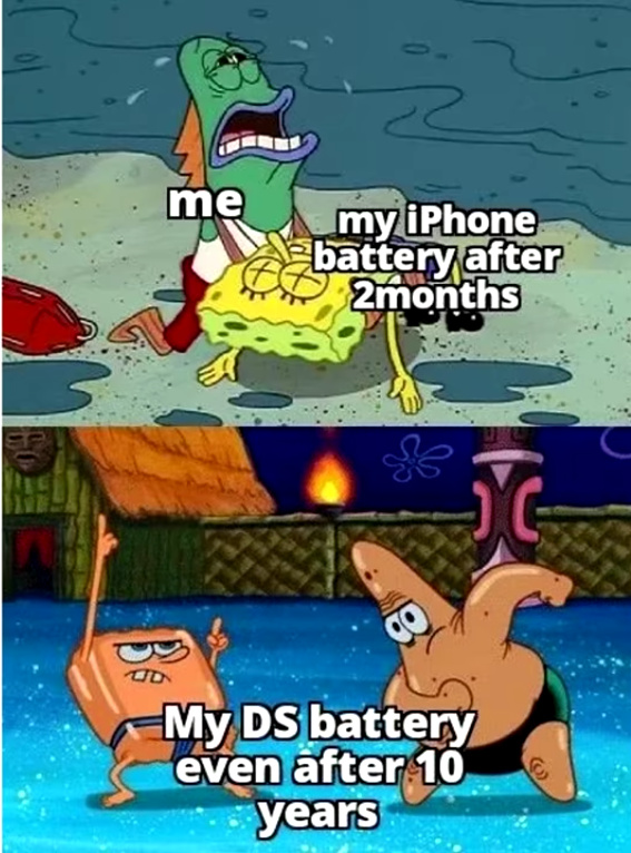 DS do have a lot of battery - meme