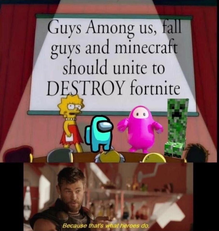 Fortnite is sus - meme
