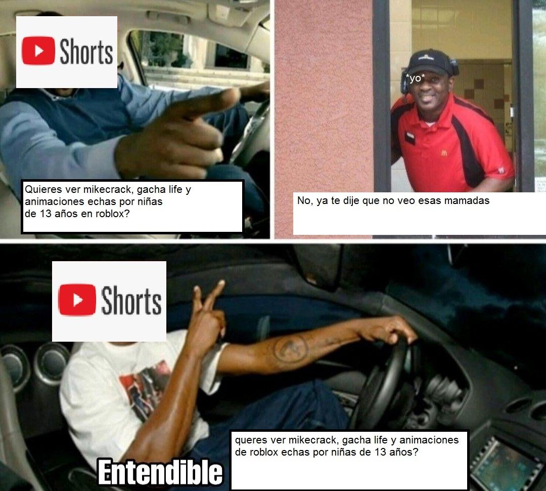 El algoritmo de youtube shorts esta mas roto que el corazon de un grasoso en 2015 - meme