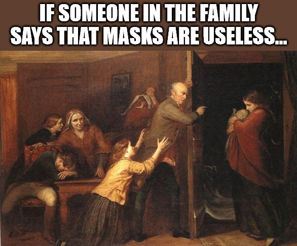 If Someone in the Family says that masks are useless... - meme
