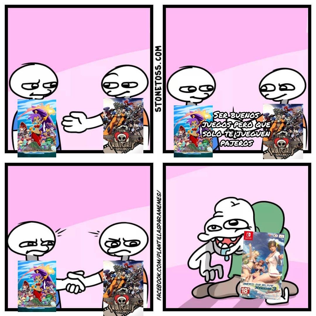 La banda sonora de Shantae y Skullgirls es muy bonita - meme