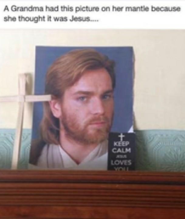 """Obi """"Jesus"""" Kenobi - meme"""