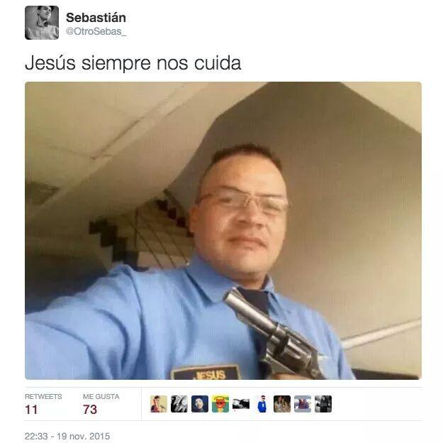 Jesus te cuida - meme