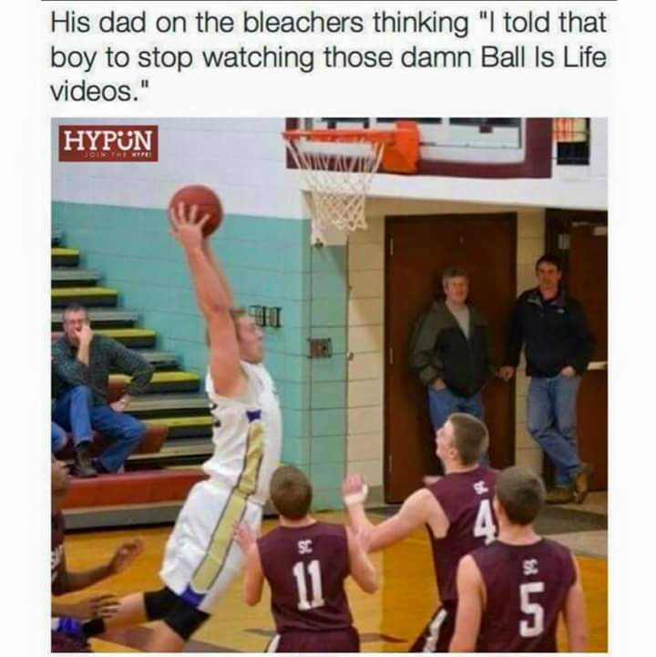 Im 6 ft and growing and I suck at basketball - meme