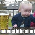 Invisible baby