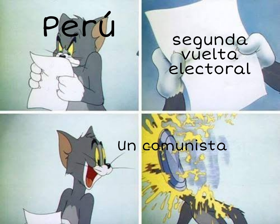 Bueno, en Perú estamos entre la espada y la pared - meme
