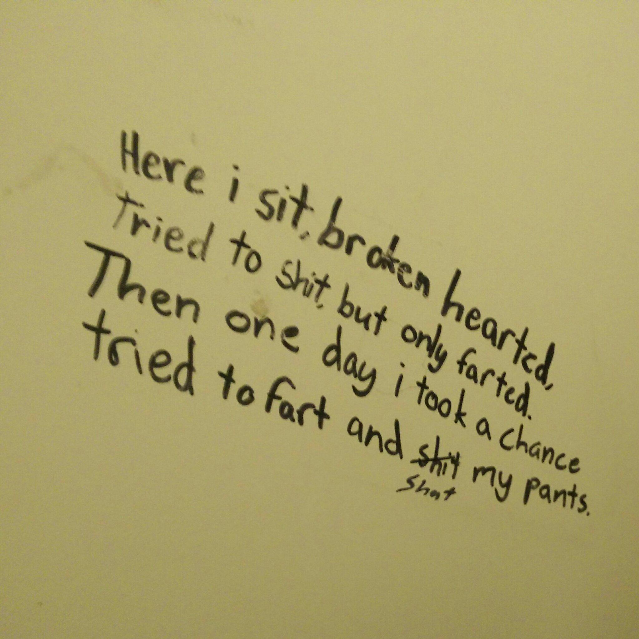 Bathroom poetry in Finland - meme