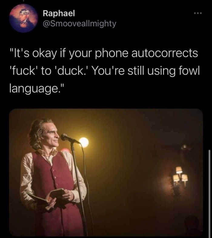 That's just fowl - meme