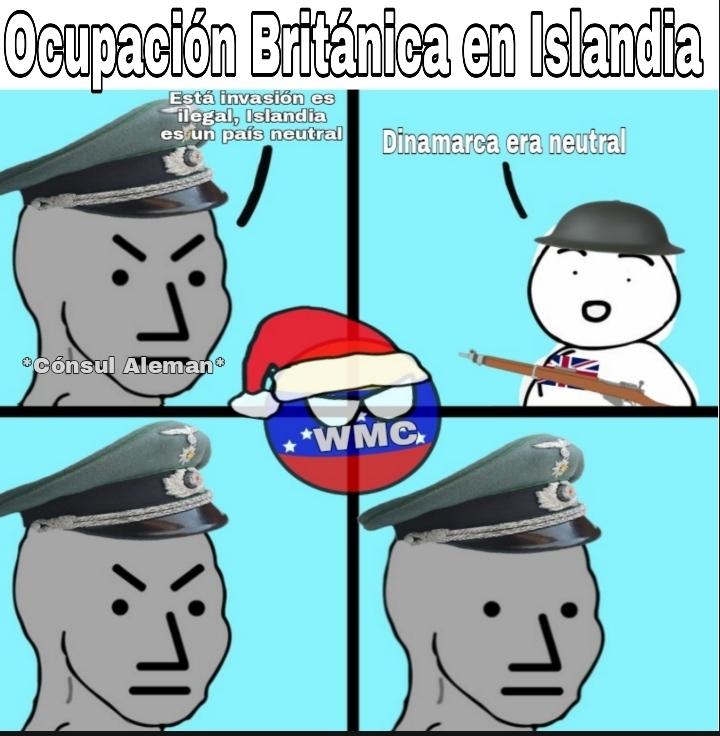 Resumen: por temor a que Alemania tomara islandia, el reino unido la ocupo primero - meme