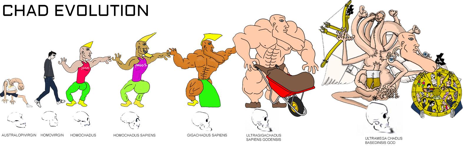 Evolucion de chad no me lo creo la ciencia es increible - meme
