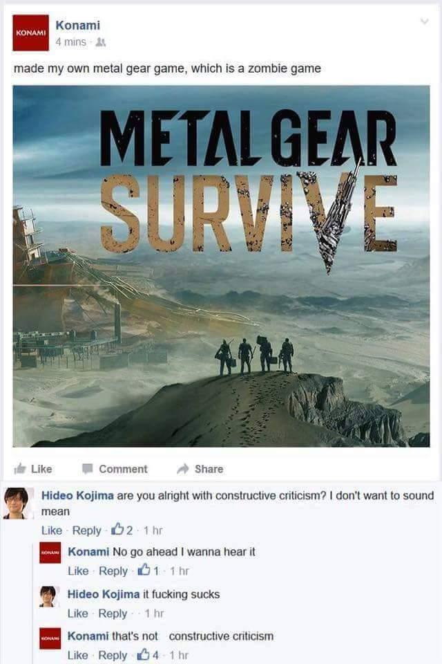 Konami gets roasted - meme