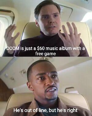 Doom is just a $60 music album with a free game - meme