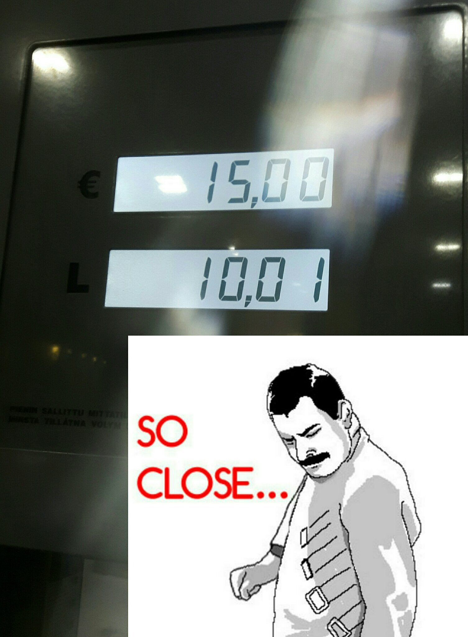 Couple of days ago at the gas pump :/ hurts my ocd - meme