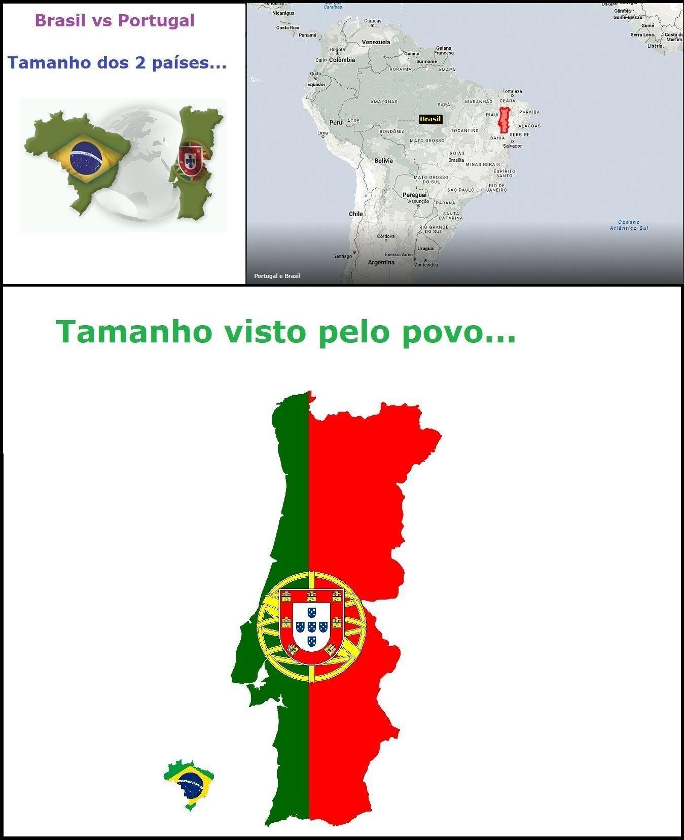 Brasil vs Portugal - meme