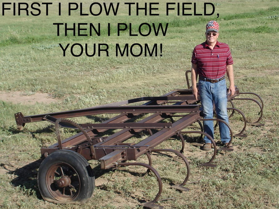 Strong on the plow! - meme