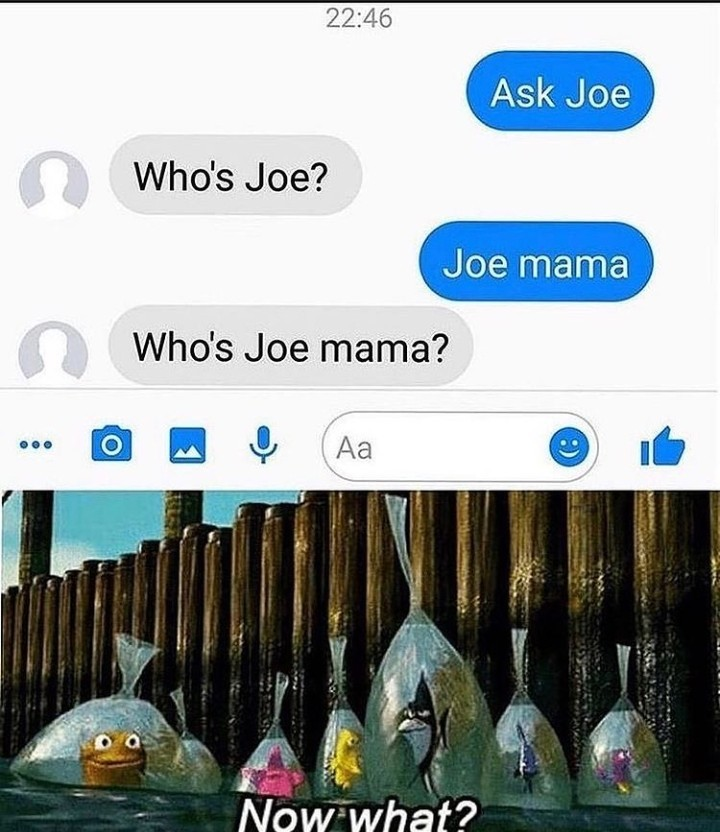 Joe mama who? - meme