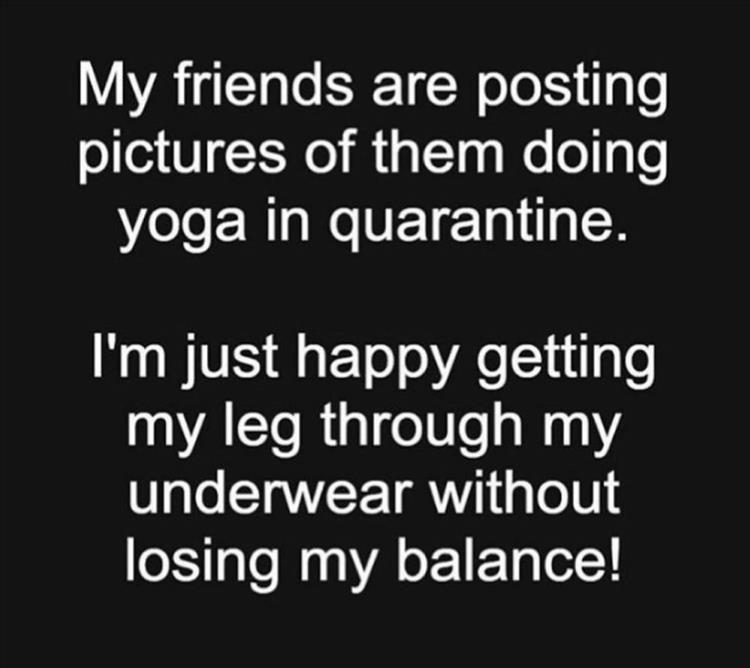 One leg at a time - meme