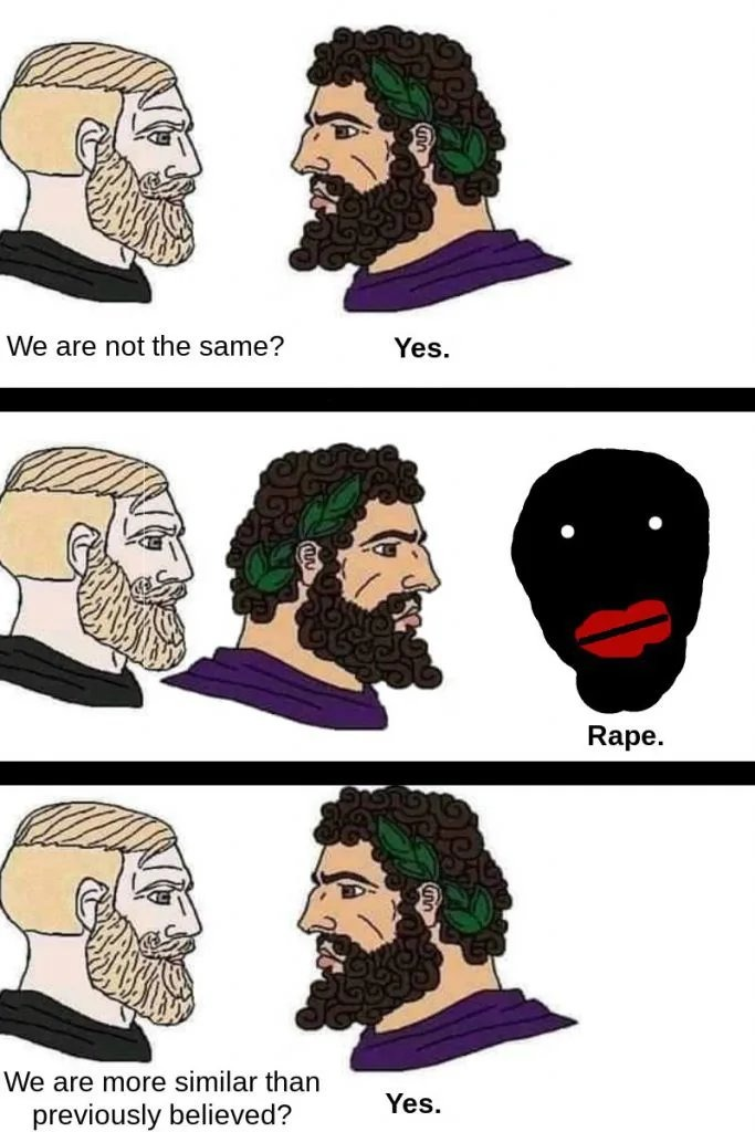 Nordic and Mediterranean together - meme