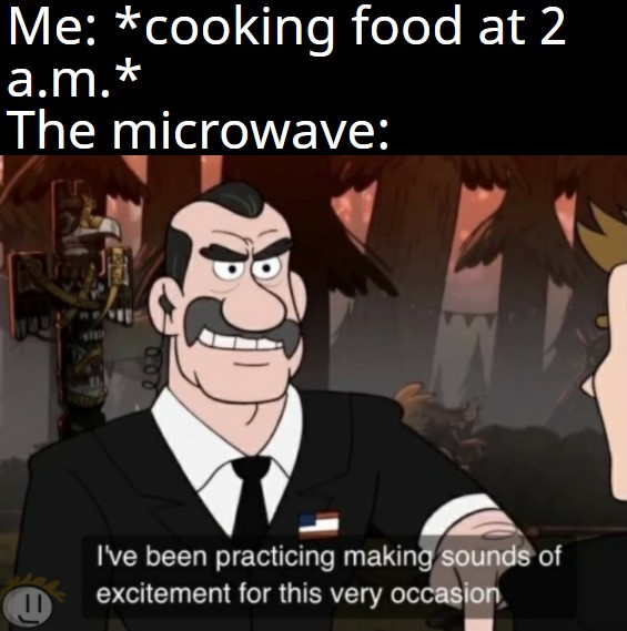maybe I don't want everyone knowing about my pizza rolls - meme