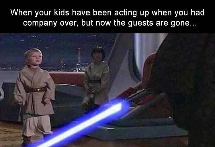 The kids get a light beating tonight - meme