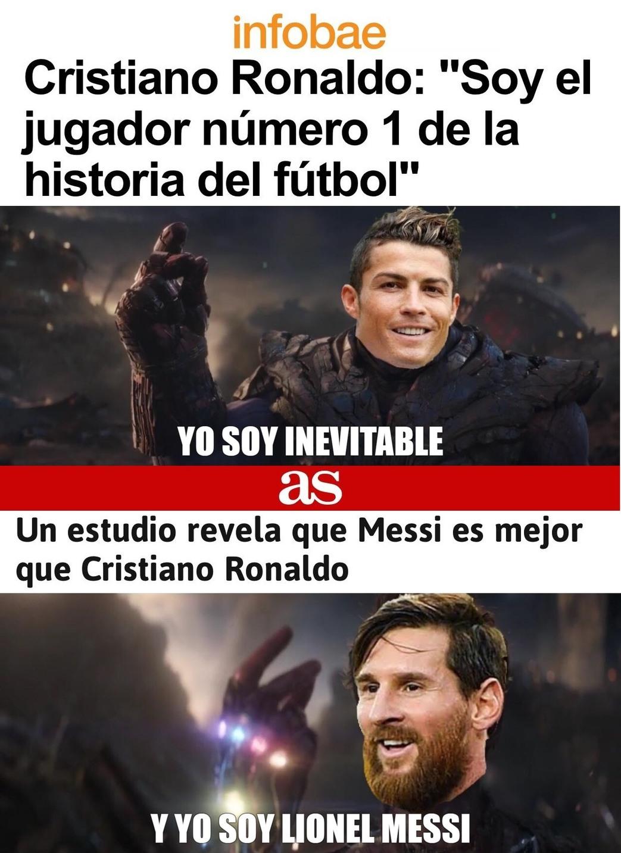 Futbolistas Endgame - meme