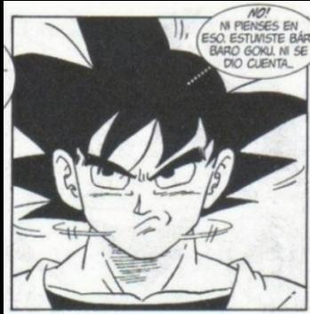 Estuviste bárbaro Goku - meme