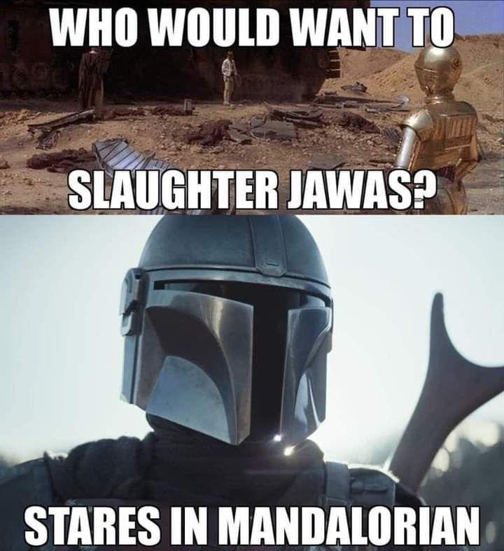 Evil Mandalorian - meme