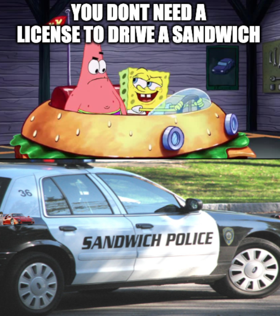 Watch out for the SANDWICH POLICE - meme