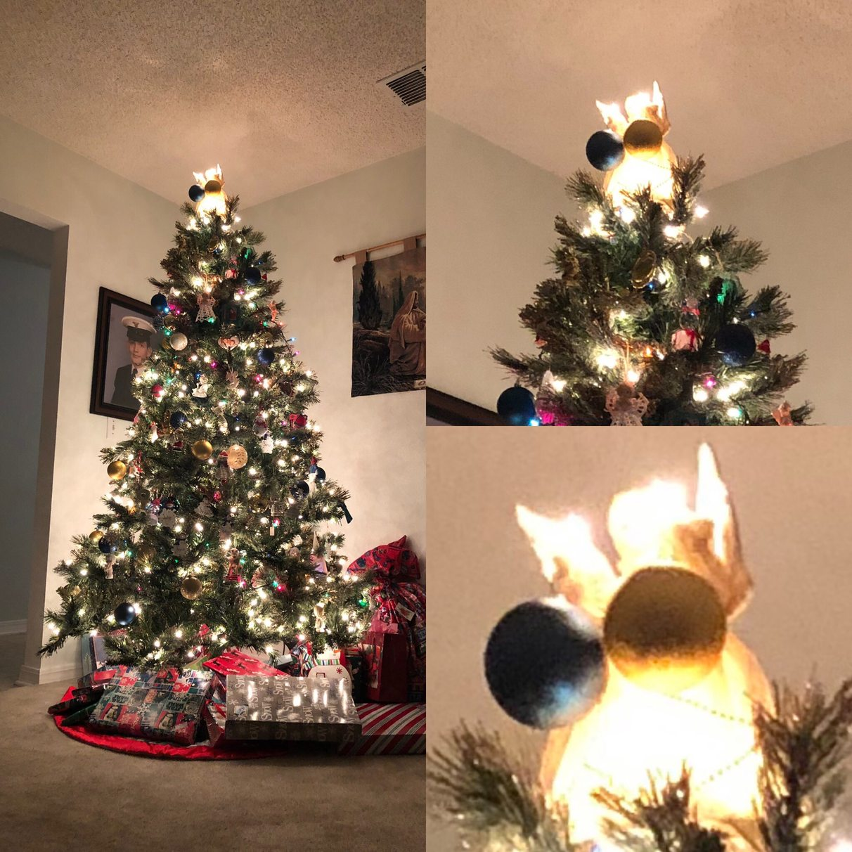 when your brothers decorate the tree... - meme