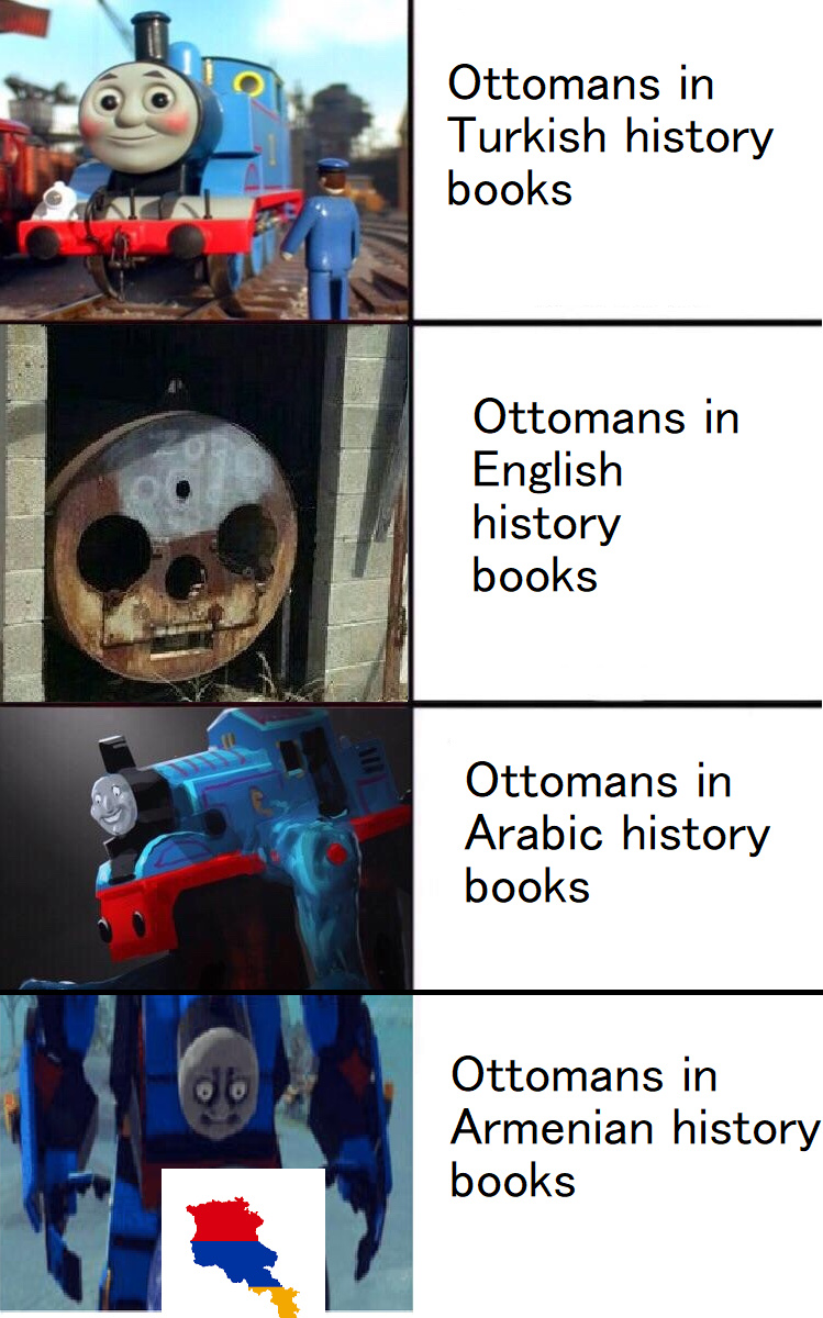 Ottomans in history books - meme