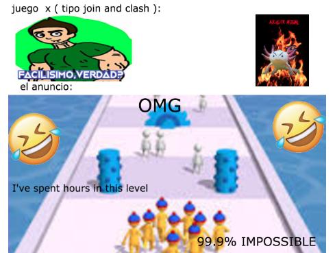 si el juego es dificil no me lo pongan en los comentarios - meme