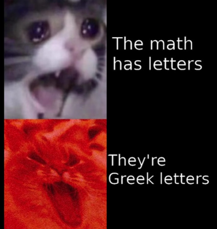 letters should not be in math - meme