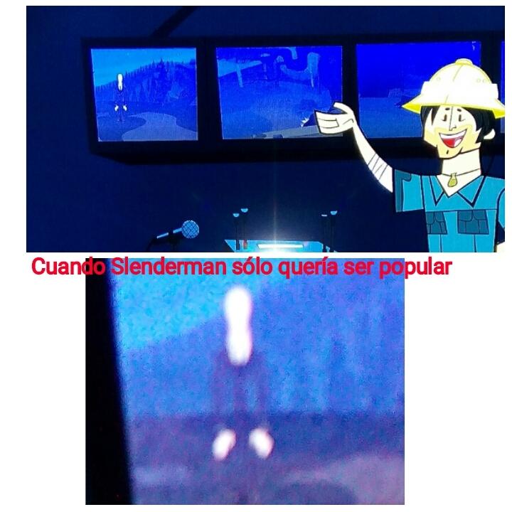 SLENDERMAN EN DRAMA TOTAL!!! - meme