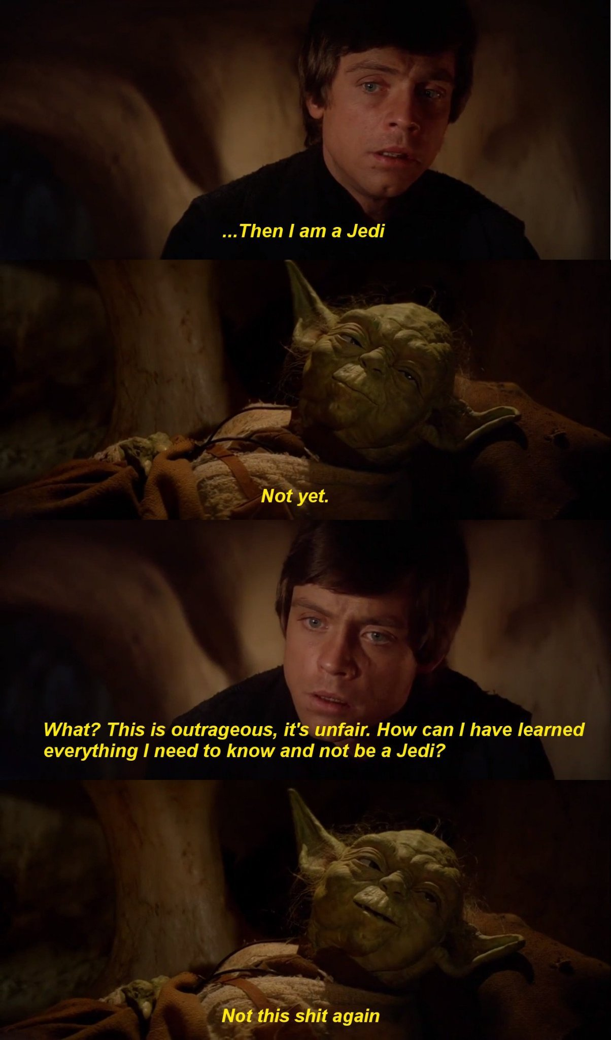 Yoda went through too much shit - meme