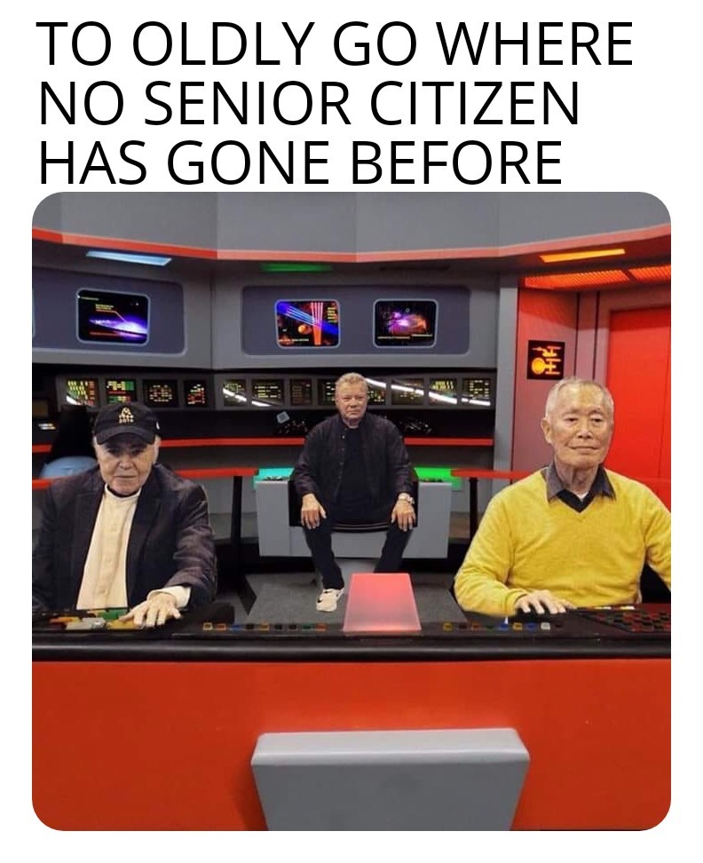 How they would have arrived at their first mission without warp speed - meme