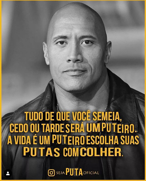 the rock e suas putas - meme