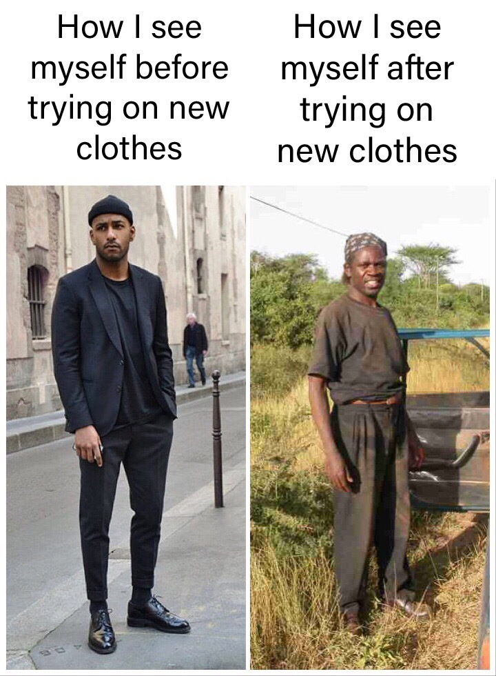 Trying On New Clothes - meme
