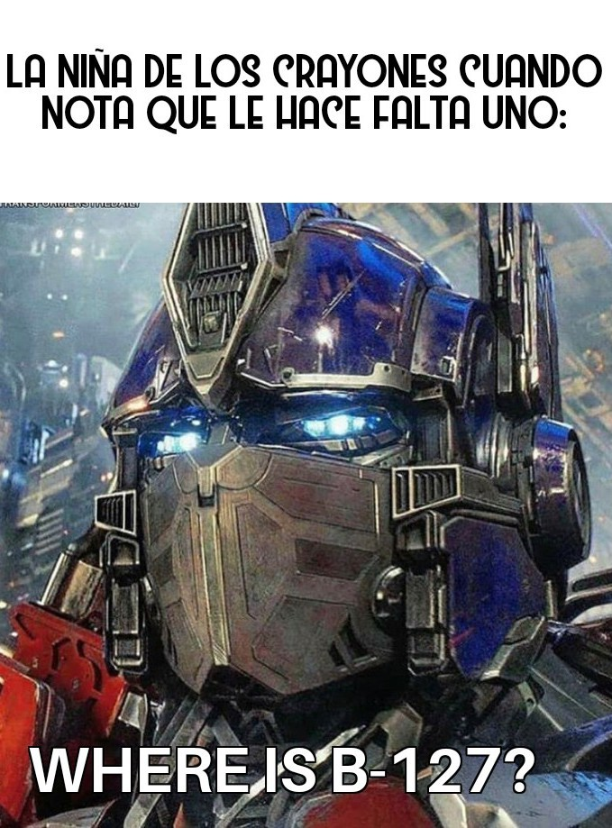 Un kapo el optimus prime - meme