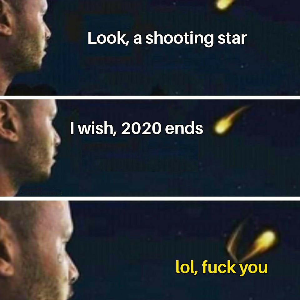 2020 will never end - meme
