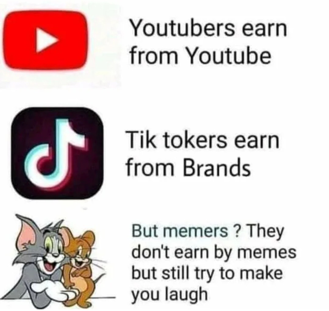 memers try to make u laugh, memers don't tell u to laugh when u don't want to